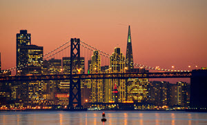 san francisco Skyline 300 wide